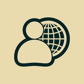 Globální obchod, obchodní muž ikonu