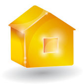 House three-dimensional on a white background