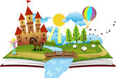 Book of Fairy Tales vector
