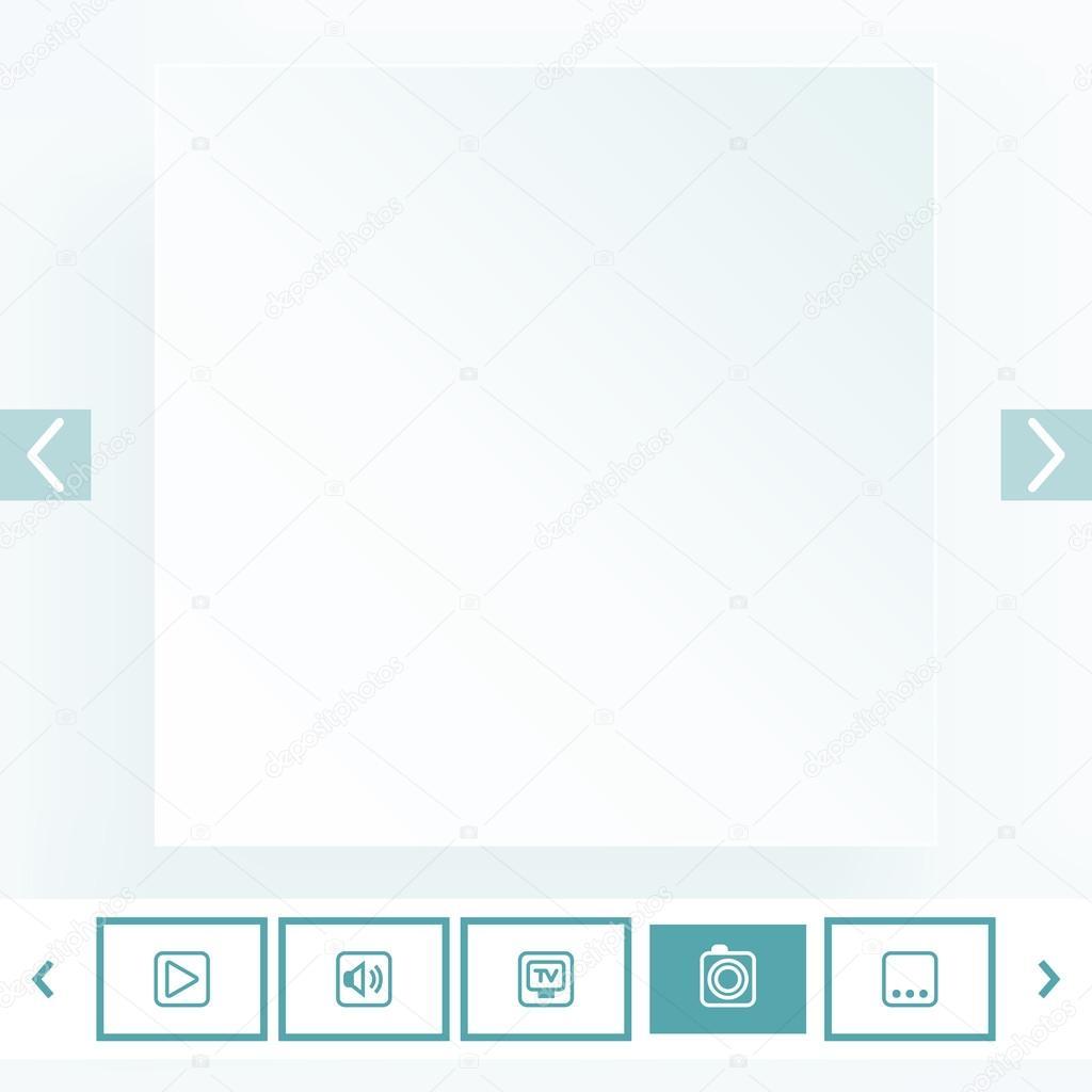 plantilla para la colocación de contenido multimedia — Vector de ...
