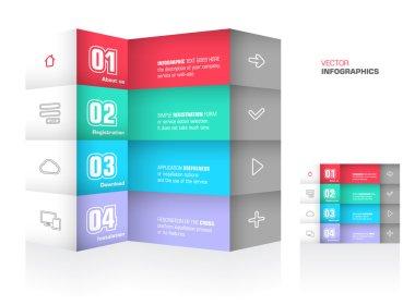 Trendy design infographic