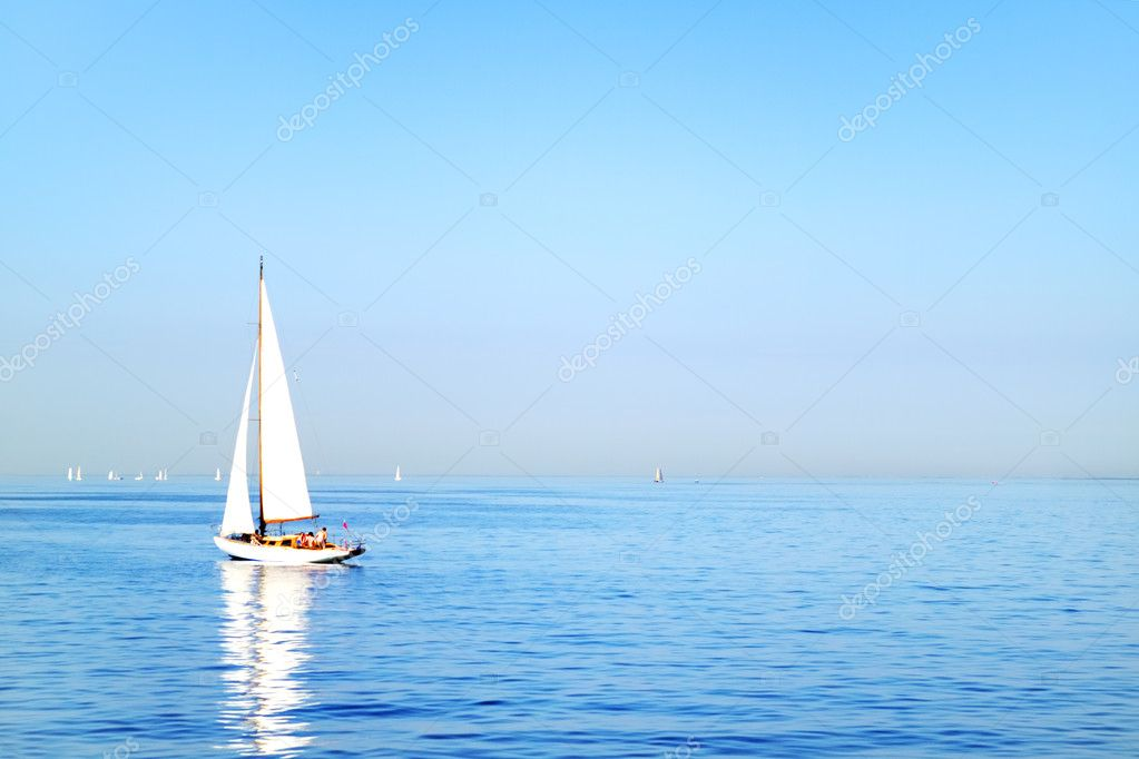 Sailboat. Gulf of Finland St. Petersburg