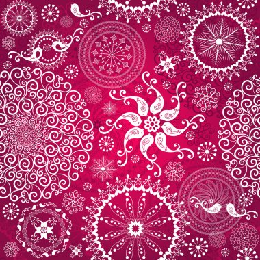 Christmas red repeating pattern
