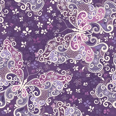 Seamless violet motley pattern