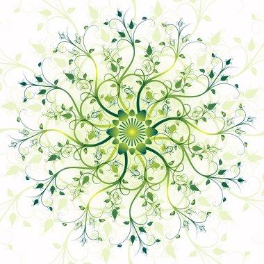 Floral spring round frame
