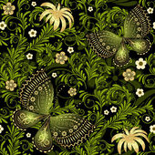 Photo Spring green-gold seamless pattern