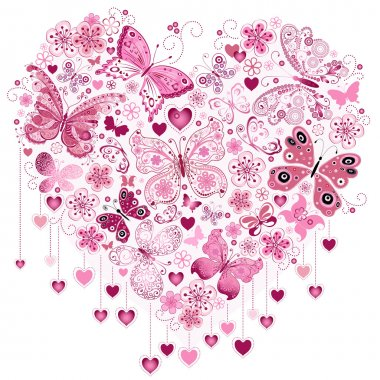 Valentine pink big heart