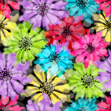 Seamless floral colorful pattern