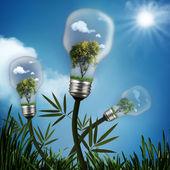 abstraktní energie úspory a ekologické pozadí