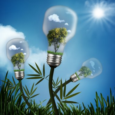 Abstract energy savings and environmental backgrounds