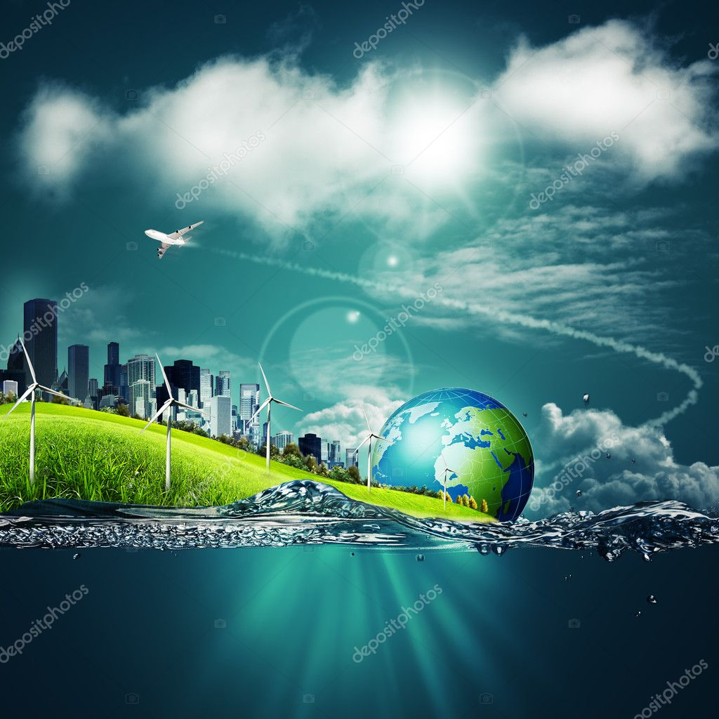 Abstract ecosystem backgrounds