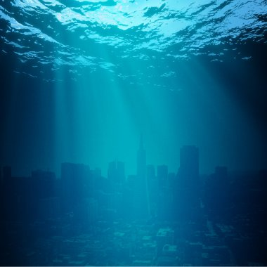 Water World. Global environmental backgrounds for your design
