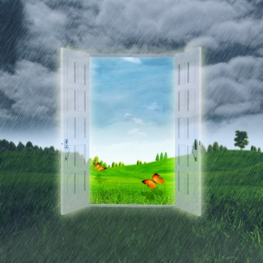 Open Your Summer. Abstract optimistic backgrounds