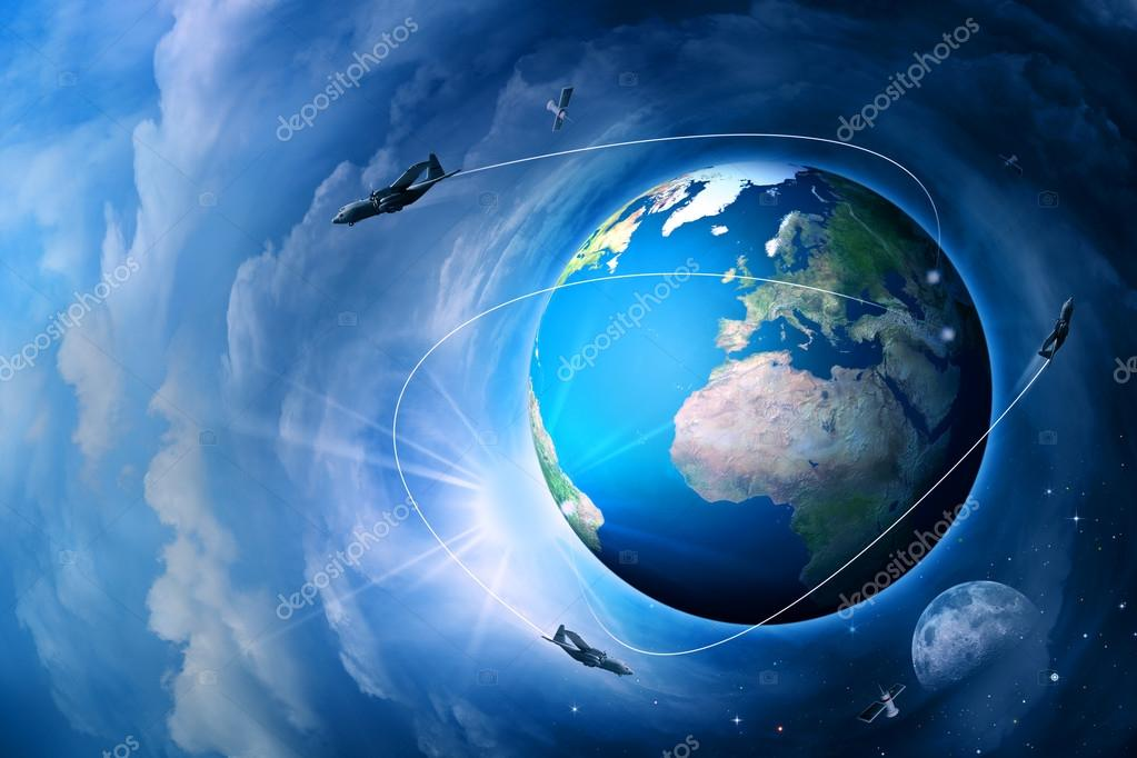 Blue Earth, abstract techno end environmental backgrounds