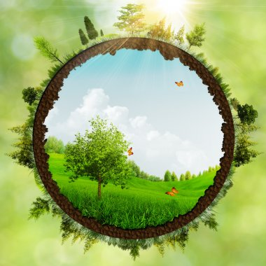 Dreamland, abstract environmental backgrounds stock vector