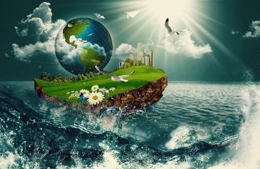 Vessel Earth, abstract environmental backgrounds