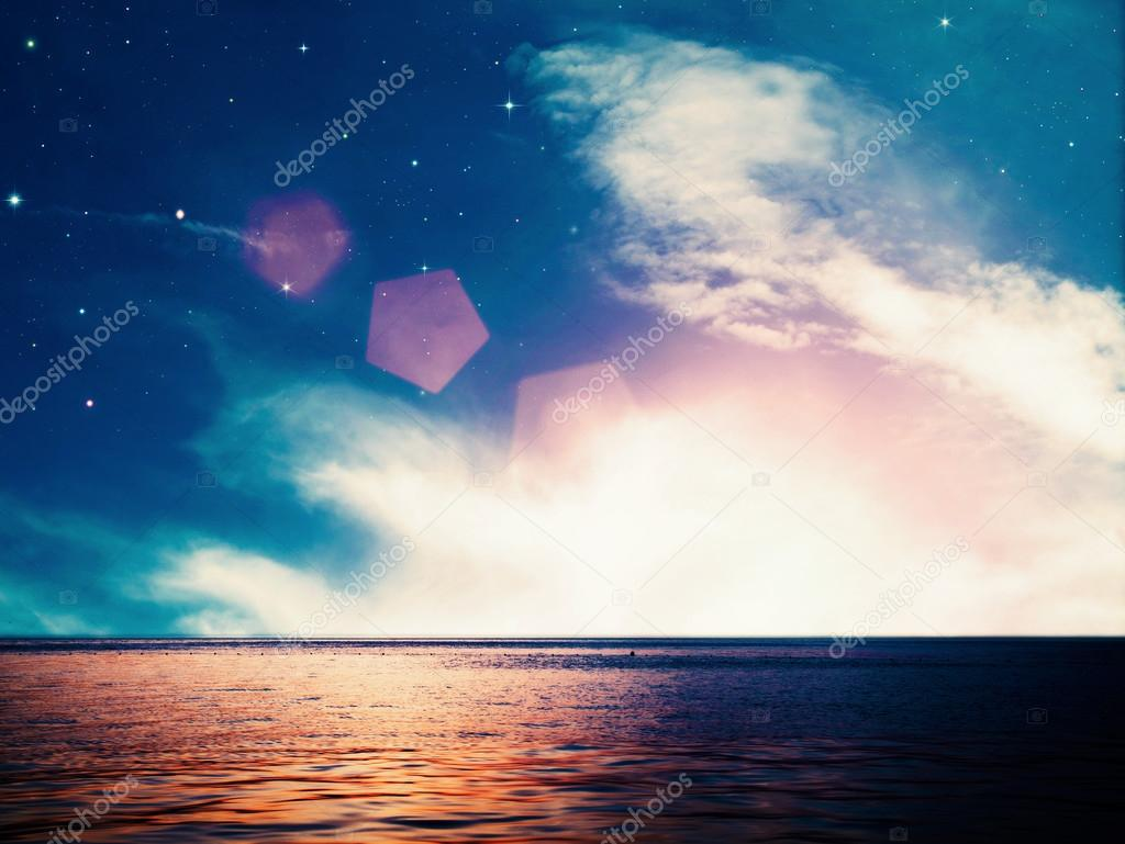 Dreamy ocean, abstract environmental backgrounds
