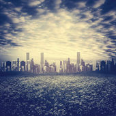 Far away, urban background