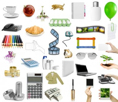 Isolated objects on the white background stock vector