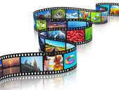 Fotografie vysílání datových proudů médií koncept
