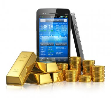 Stock market trading concept
