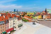 Fotografia panorama aereo di Varsavia, Polonia