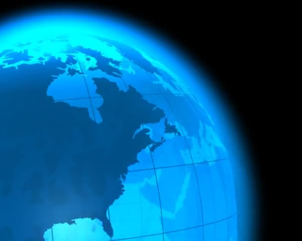 modrá rotující země světa