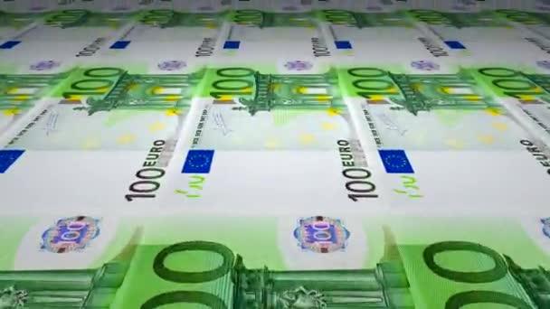 Tisk 100 kusech eurobankovek