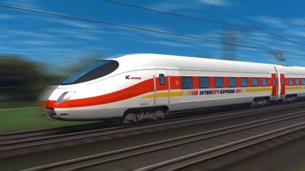 moderní vysokorychlostní osobní vlak