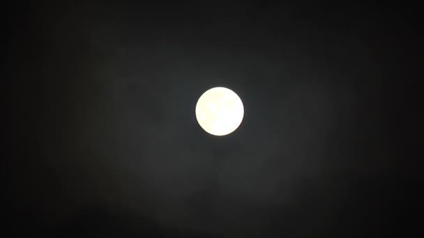 úplněk v noční obloze