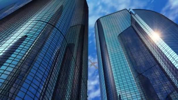 moderní reflexní kancelářských mrakodrapů
