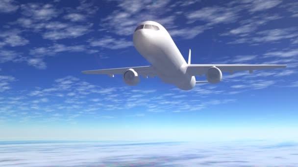 osobní letadlo let na modré obloze