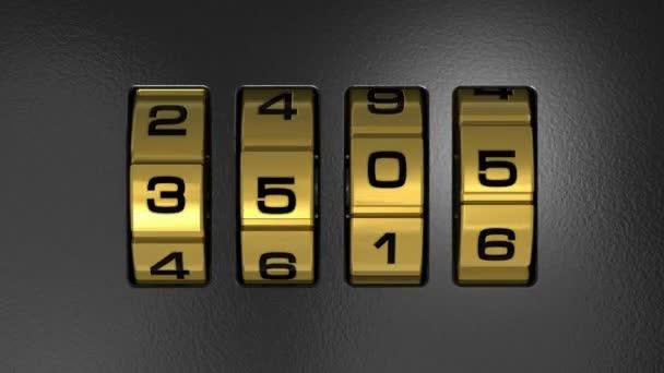 Zavřete pohled kovových nový rok 2013 bezpečného kódu kombinační zámek