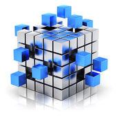 podnikání týmovou práci, internet a komunikační koncept