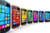 Moderní smartphone s dotykovým displejem rozhraní