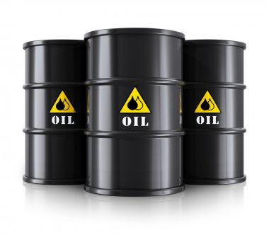 Black oil barrels