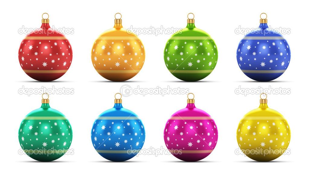 juego de bolas de Navidad de color — Foto de stock © scanrail #34887435