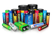 Photo Collection of different batteries
