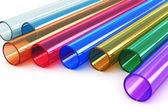 Fényképek színes akril műanyag csövek