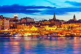 Fotografie večerní scenérie ze stockholm, Švédsko