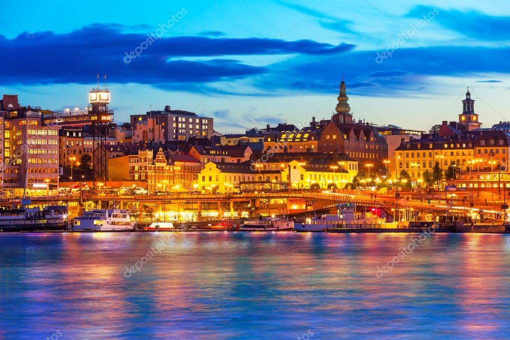 Фотообои Evening scenery of Stockholm, Sweden