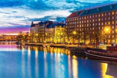 Evening scenery of Helsinki, Finland