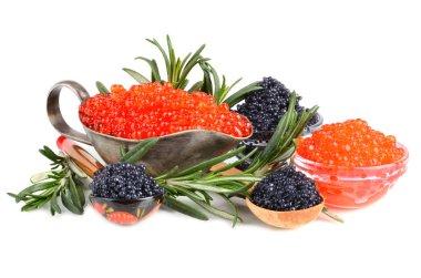 Caviar in bowls