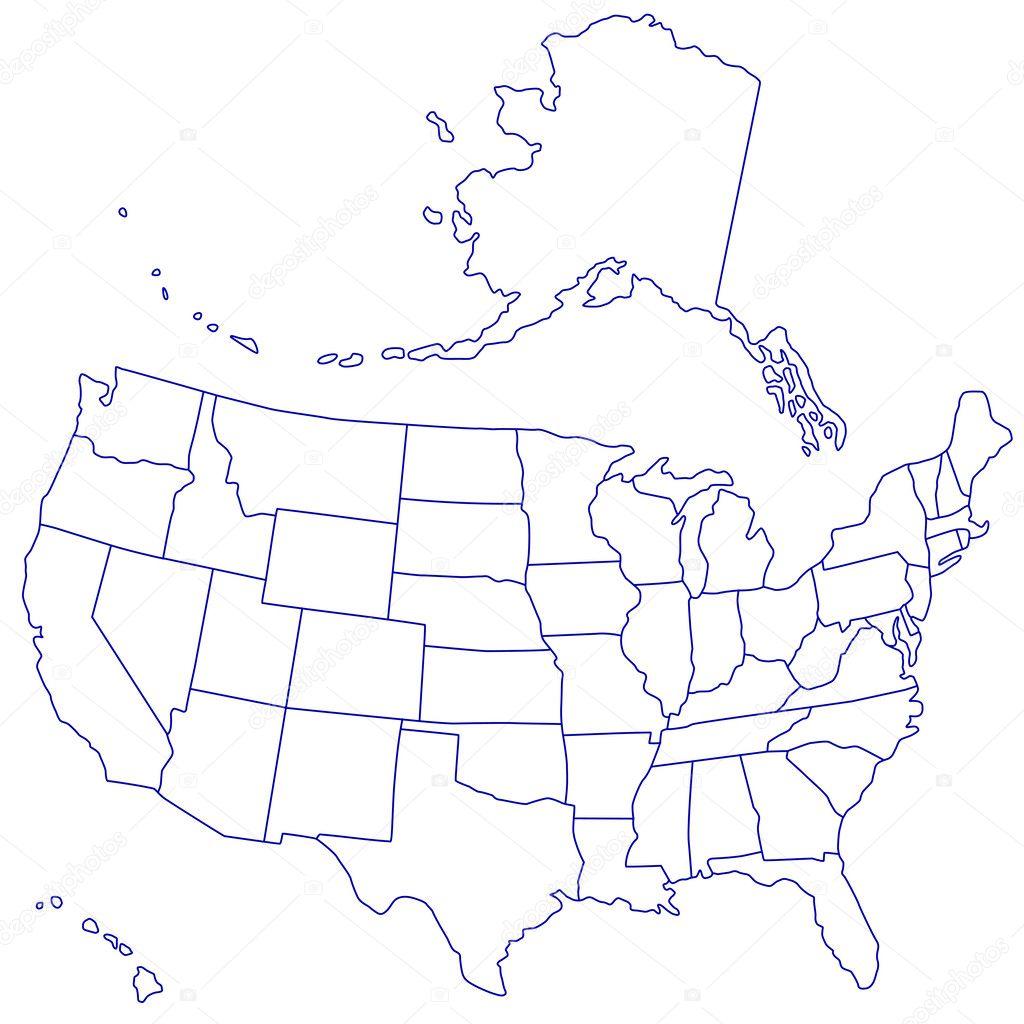 USA Map  Stock Vector  AlexanderZam - Map usa vector