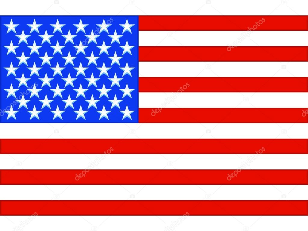 Bandeira EUA — Vetor...