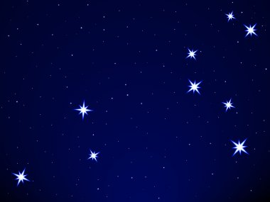 Leo constellation on the starry sky