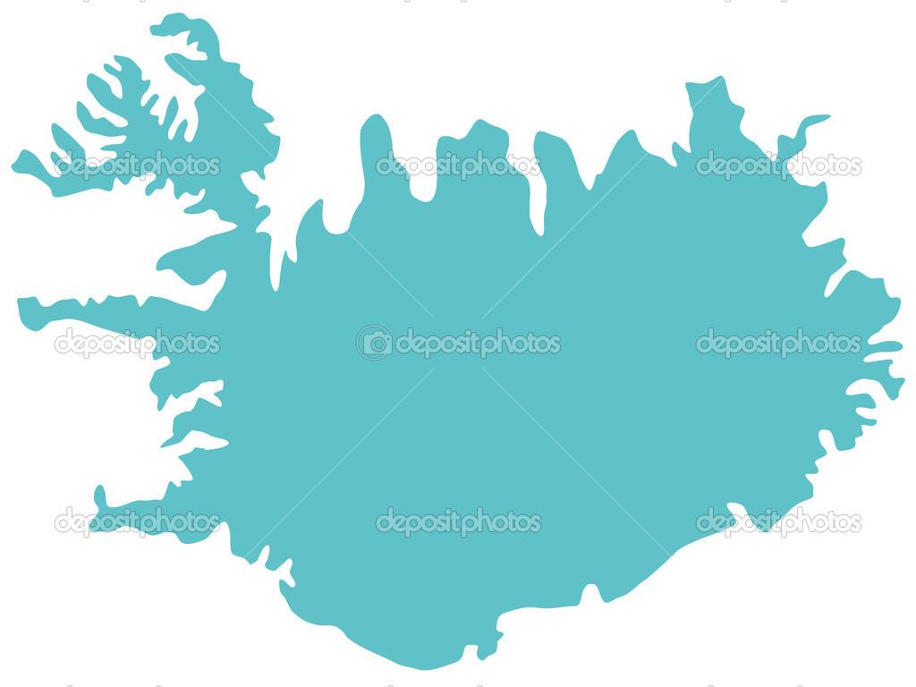 Map of Iceland — Stock Vector © AlexanderZam #38310335
