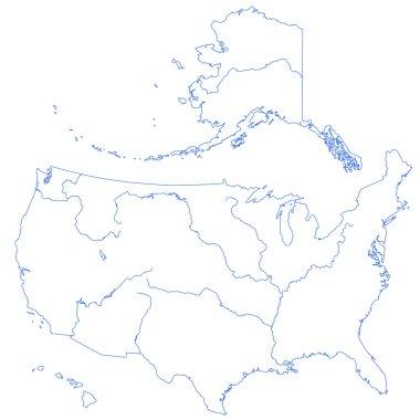 Contour map of USA
