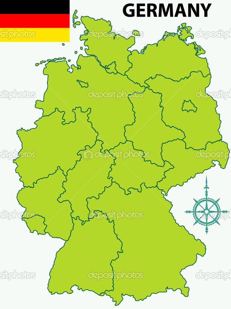 karta över tyskland karta över Tyskland och flagga — Stock Vektor © AlexanderZam #40677459 karta över tyskland