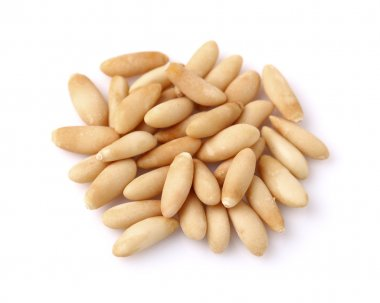 Pine nuts in closeup